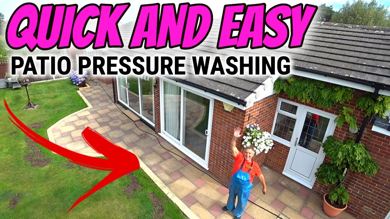Patio pressure washing quick clean up