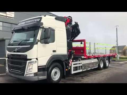 Volvo (2019) FM420 6 x 2 FASSI F545RA2.25 Crane Mounted Rigid Flatbed