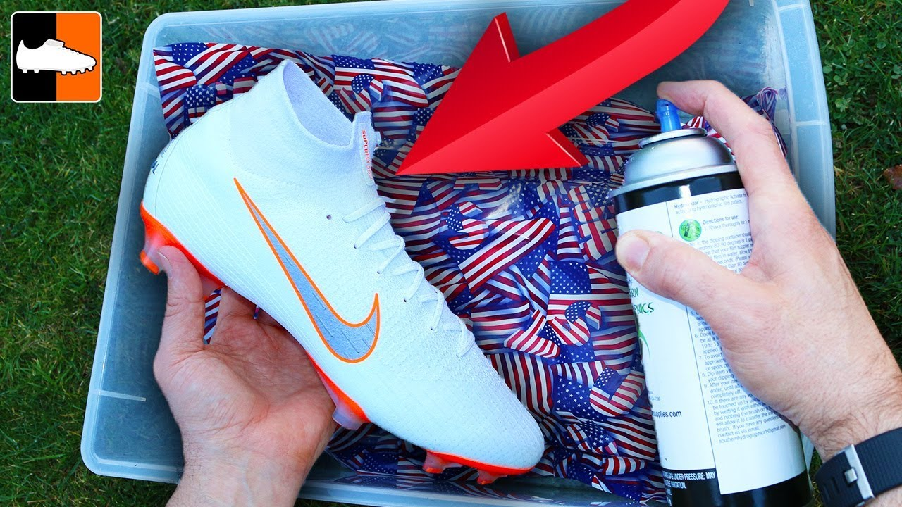 How To Hydro Dip Flag ???????? Custom Boots ⚽️ Soccer Gear!