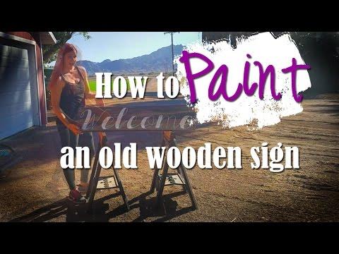 How To Make Custom Rustic Signs (Barnwood)
