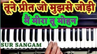 तूने प्रीत जो मुझसे जोड़ी   मीरा का मोहन   Harmonium   Sur Sangam   मीरा मोहन   Keyboard   Piano