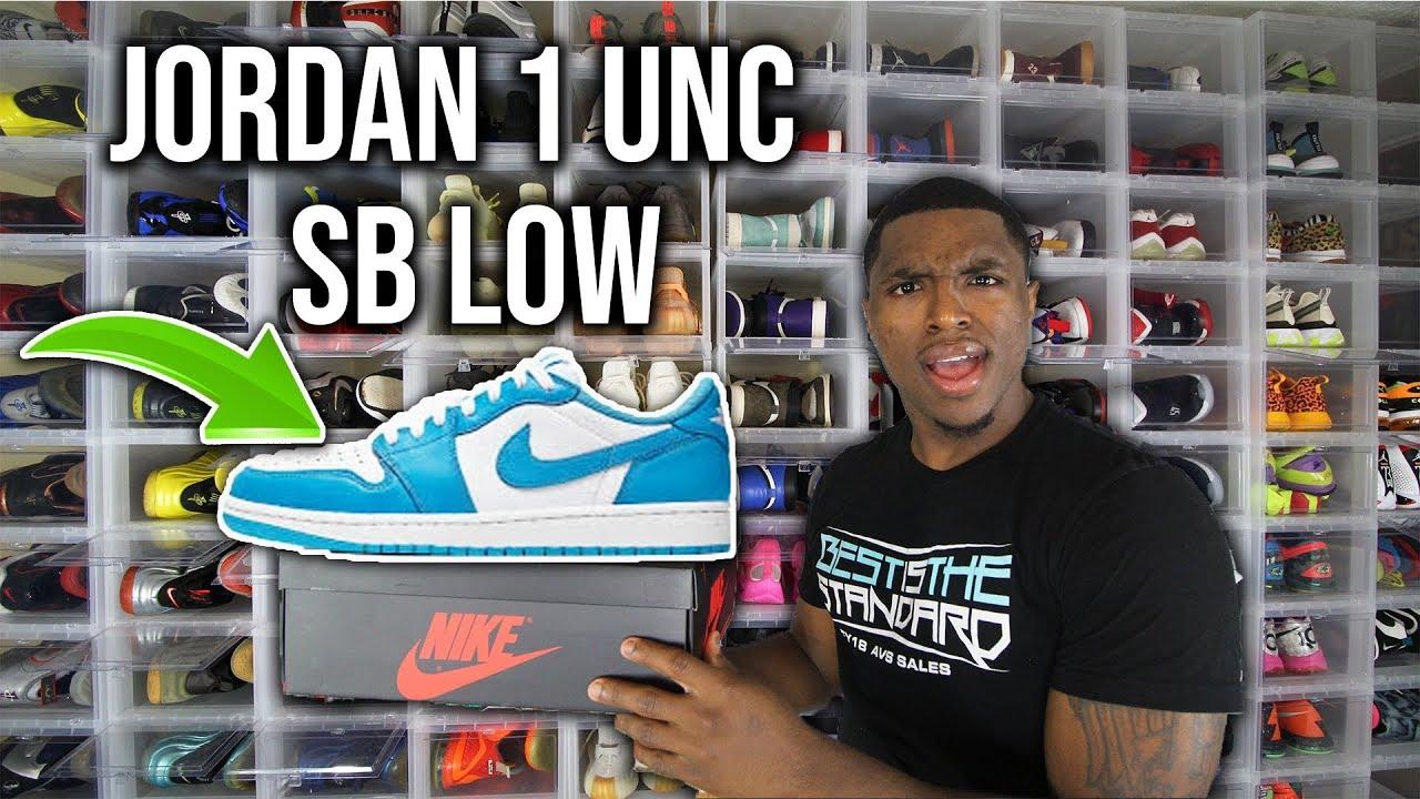 Nike Sb Air Jordan 1 Low Unc Youtube