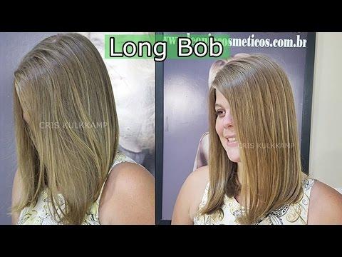 Corte Long Bob rápido e Fácil - passo a passo