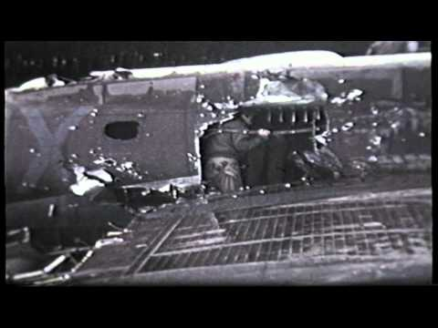 B17 battle damage this plane flew home in this condition to it