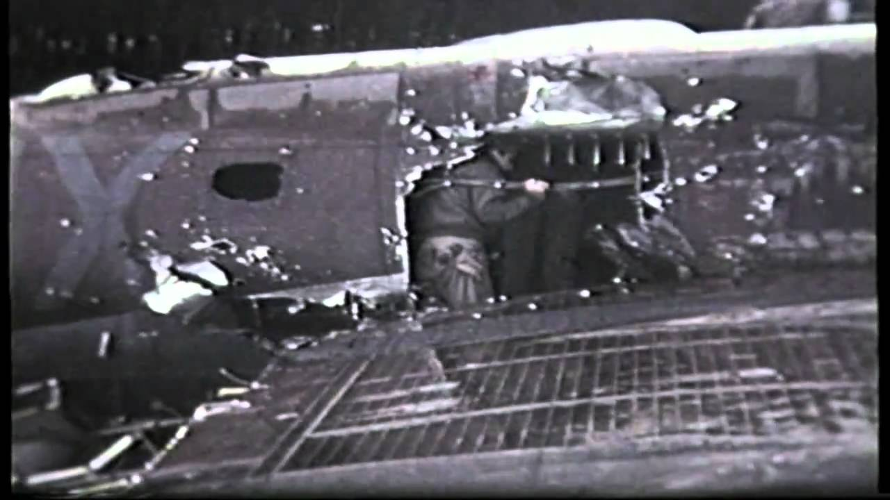 B17 battle damage this plane flew home in this condition to it's base ...
