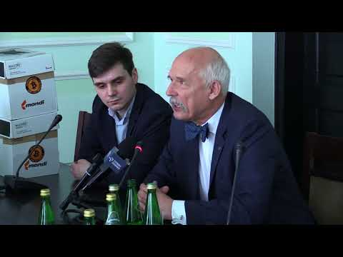 Janusz Korwin-Mikke podczas spotkania ws. kryptowalut - Sejm RP 12/04/18