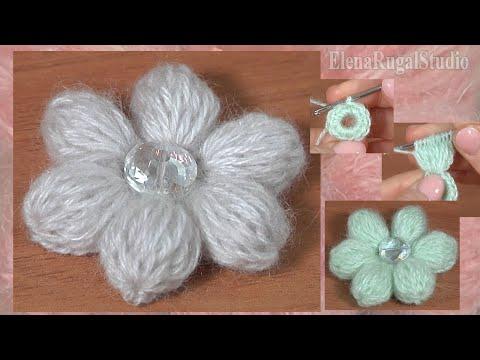 Цветок с лепестками крючком