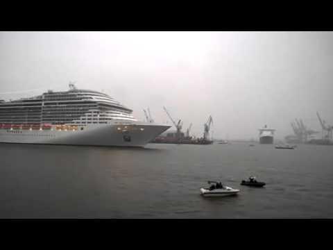 Dieses Schiff rockt den Hamburger Hafen !  Queen Mary 2