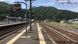 今庄駅を通過する特急サンダーバード
