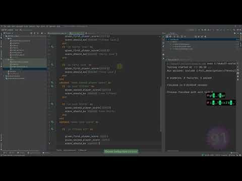 Ruby with RubyMine: Tennis - v2