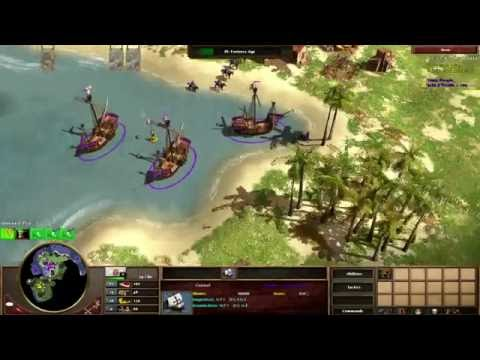 AOE3 with Interjection : Ports (me) vs Dutch on Hispanyoloswag