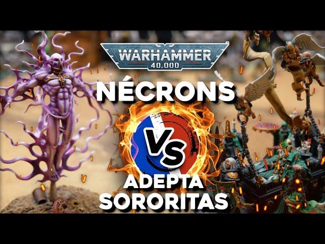 RAPPORT DE BATAILLE WARHAMMER 40 000 - Nécron VS Adepta Sororitas - compétitif 2000pts
