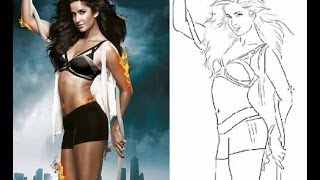 Kamli Kaitrina Kaif drawing in Ps5 Dhoom 3 Part 1