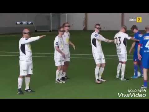 Футбол за закрытыми глазами