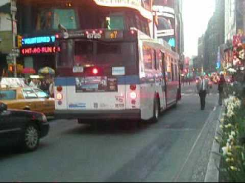 MTA Bus Orion VII NG M6, M10, M104 Bus Orion VII M7 & Nova-RTS M20 Bus all  at Times Square/42nd St