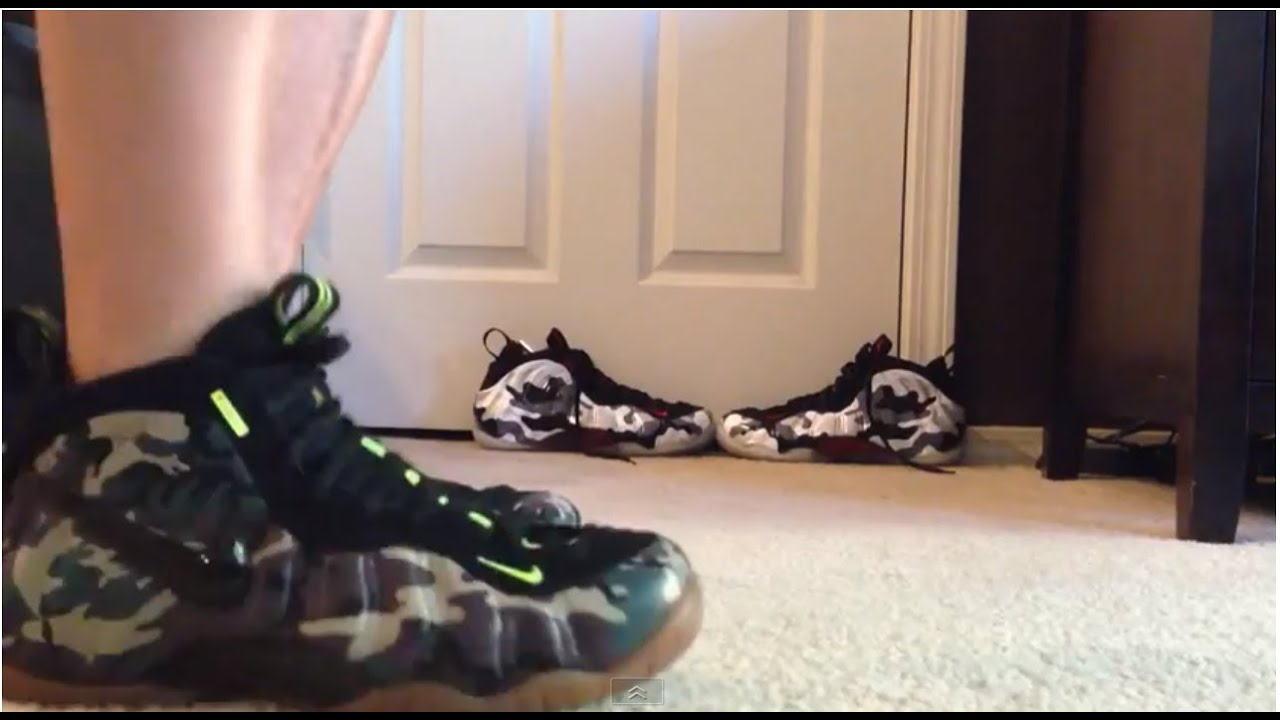 435629d485fdf ... Nike Foamposite Pro PRM LE Army Camo On Foot Review - YouTub ...