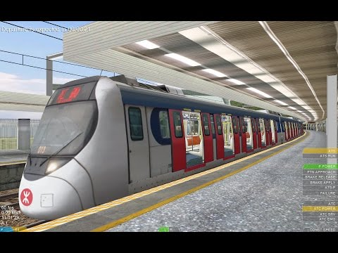 OpenBVE HD: KCR/ MTR Kinki Sharyo SP1900 East Rail Line Train Making Stops from Lo Wu to Hung Hom