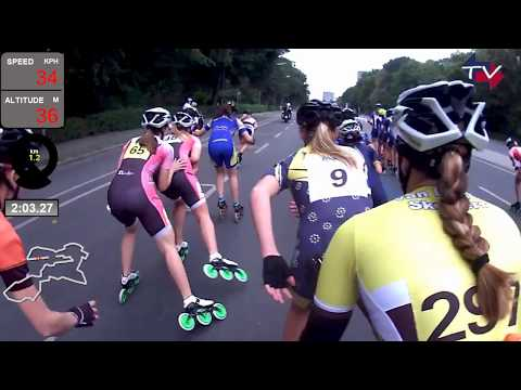 44. BMW Berlin Marathon Inlineskating - Elite Women group, POV Ana Odlazek