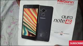 Unboxing of karbon aura note 4g mobile