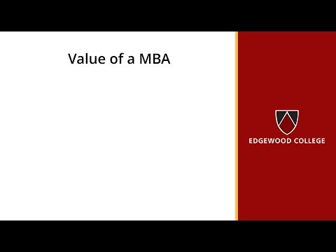 Value of a MBA
