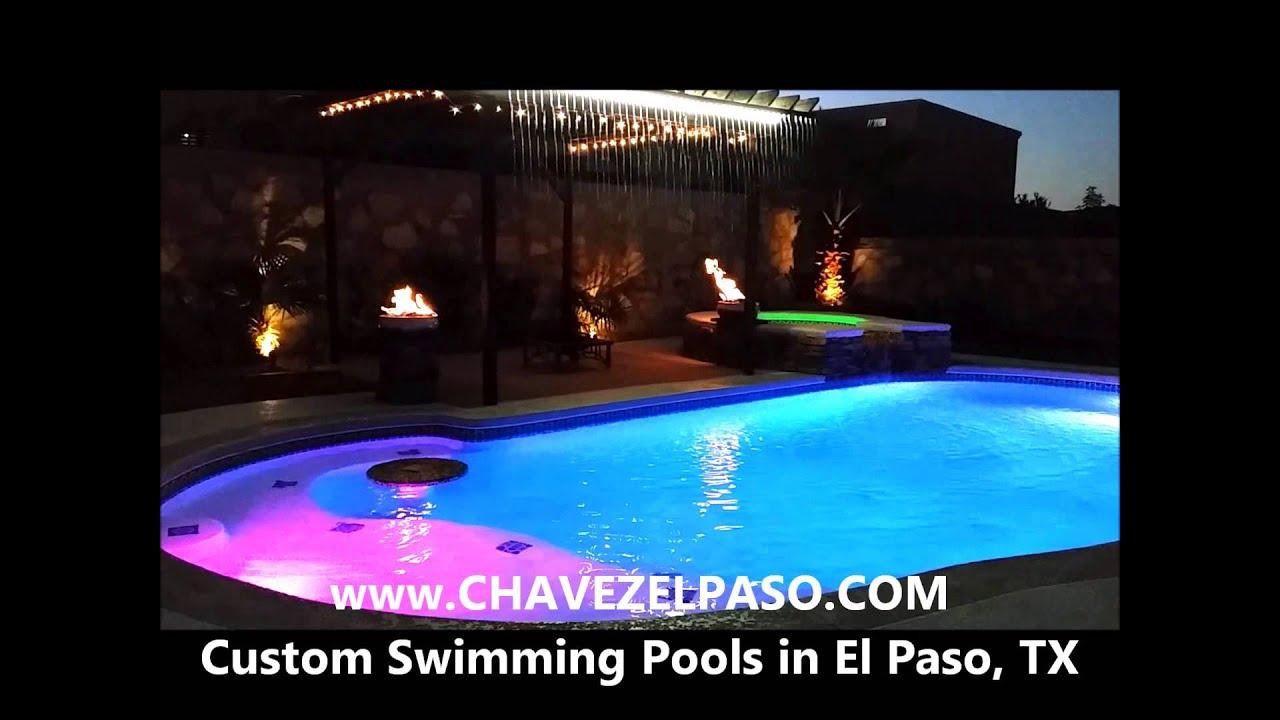 Custom swimming pools in el paso tx by chavez construction for Builders in el paso tx