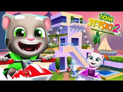 АКВАБАЙК ГОВОРЯЩЕГО ТОМА 2 #2 Приключение как ТОМ БЕГ ЗА ЗОЛОТОМ игра мультик Talking Tom Jetsky 2