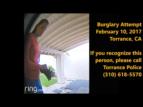 (Edit: Arrested & Convicted) Burglary Attempt, Torrance CA, 2/10/2017