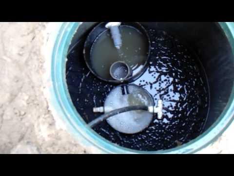 видео: Канализация для частного дома из бетонных колец.