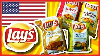 Lay's Potato Chips 4 New Flavours - Usa 2014