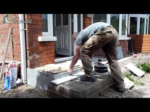 How to /DIY Patio tiling job / Front porch flagged/Tiled project