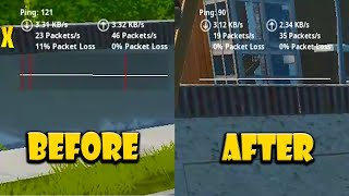 How i Fixed my Packet Loss and Reduced Ping in Fortnite