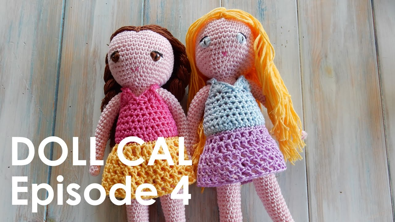 Amigurumi Doll Arms : Crochet amigurumi doll cal ep dress youtube