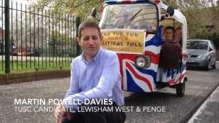 Martin Powell-Davies, TUSC candidate for Lewisham West & Penge