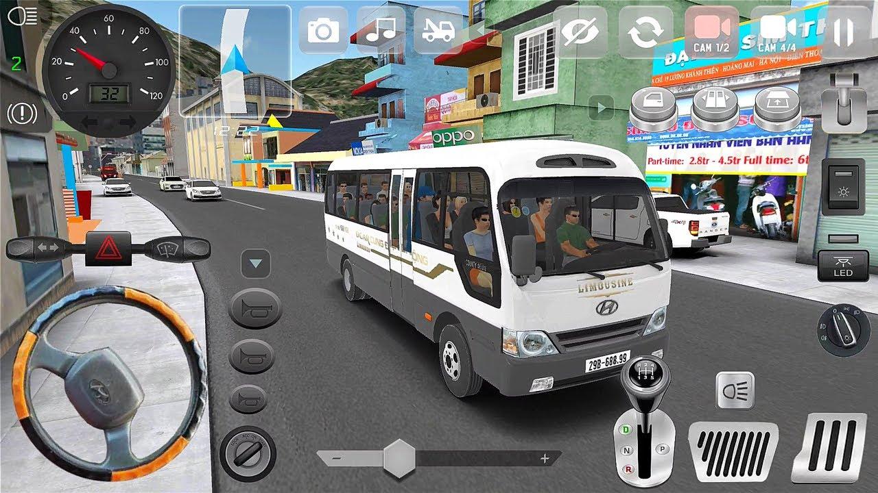 Minibus Simulator Vietnam #2 | Hyundai County Nông Thôn - Thành Phố Part 2