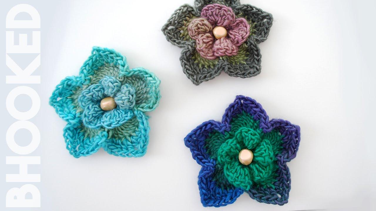 How to crochet a flower free crochet pattern youtube dt1010fo