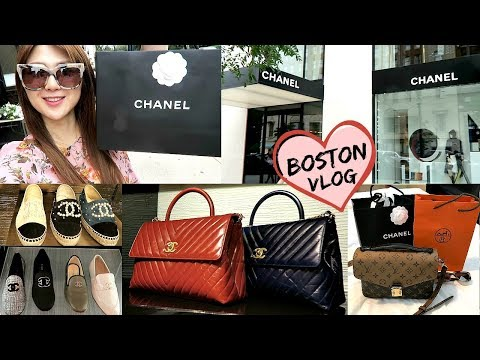 COME TO BOSTON WITH US 👨👩👧👦 ! SHOPPING AT CHANEL & HERMES! | CHARIS | LVlover CC ❤️