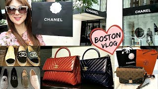 COME TO BOSTON WITH US 👨‍👩‍👧‍👦 ! SHOPPING AT CHANEL & HERMES! | CHARIS | LVlover CC ❤️