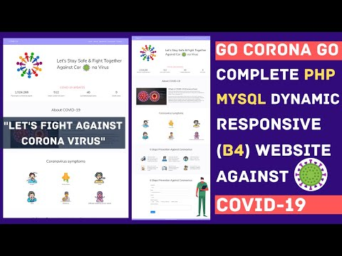 Website against CORONA VIRUS using Bootstrap 4, PHP and MySQL Source Code