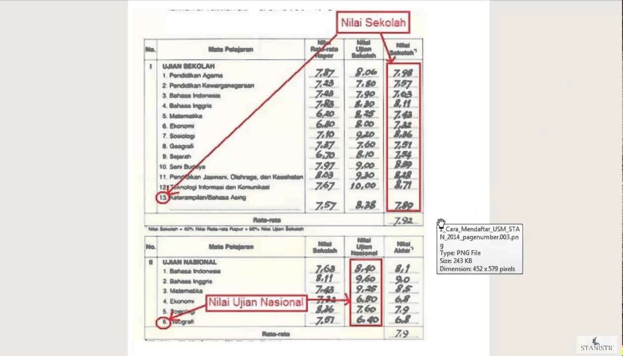 cara menghitung nilai rata rata ujian tulis - YouTube