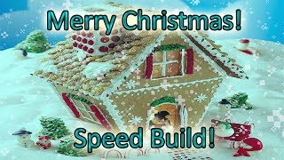 Christmas Special! (Speed Build!) | Making A Gingerbread House In Minecraft!