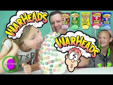 Warheads Candy Food Egg - SOUR Face! Tsum Tsum Figural Keyrings