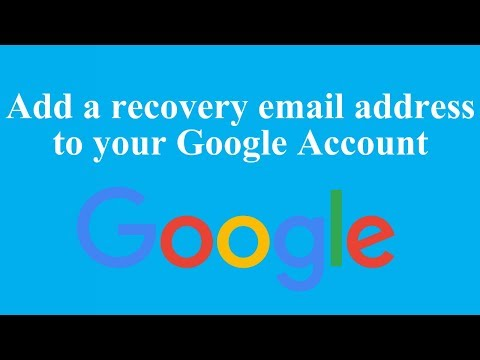 Add a recovery email address to your Google Account