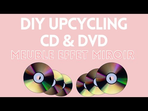 ✮ DIY ✮ Décoration effet Miroir CD & DVD ✮ Déco de coiffeuse | Dressing Table Make Over Caly Beauty