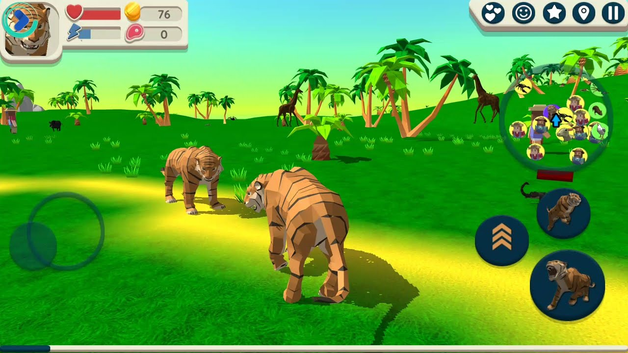 Tiger simulator 3d by cybergoldfinch android gameplay hd for Simulatore 3d