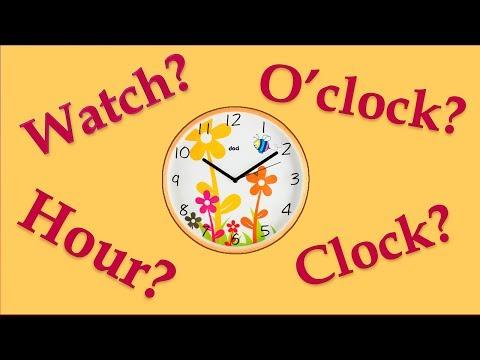 Часы по-английски - (Watch,Oclock,Hour,Clock).