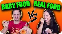 BABY food vs REAL food Challenge