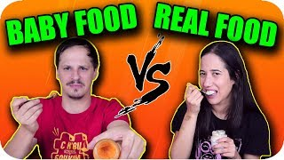 BABY food vs REAL food Challenge