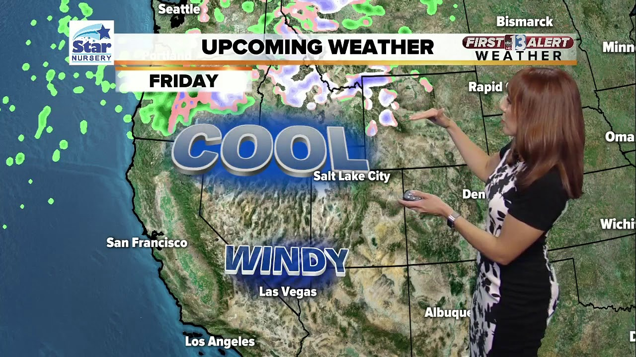 First Friday Las Vegas Map.13 First Alert Las Vegas Weather Forecast For Wed Evening Oct 11