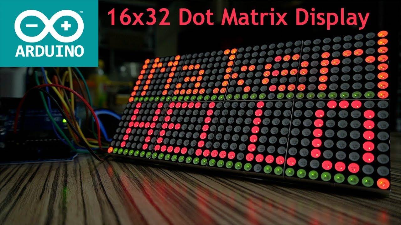 16x32 LED Matrix Display Module with Arduino