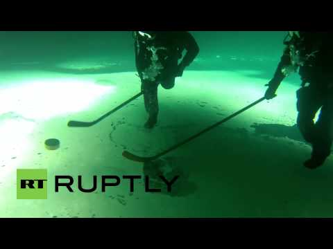 A Trippy Look At Underwater Ice Hockey